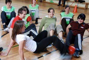 Frauen spielen Krebsfußball