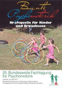 Flyer der 25. Fachtagung für Psychomotorik Bonn