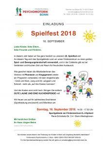 Psychomotorik Spielfest 2018 Bonn