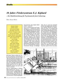 10 Jahre Förderzentrum E.J. Kiphard - Hans Beins