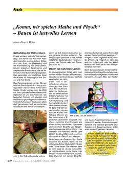 """""""Komm, wir spielen Mathe und Physik"""" – Bauen ist lustvolles Lernen - Hans Beins"""