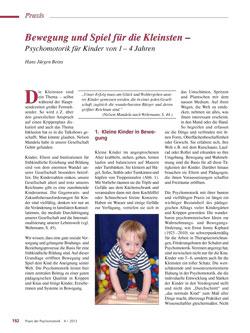 Bewegung und Spiel für die Kleinsten – Psychomotorik für Kinder von 1 – 4 Jahren