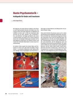 Bunte Psychomotorik – Kraftquelle für Kinder und Erwachsene