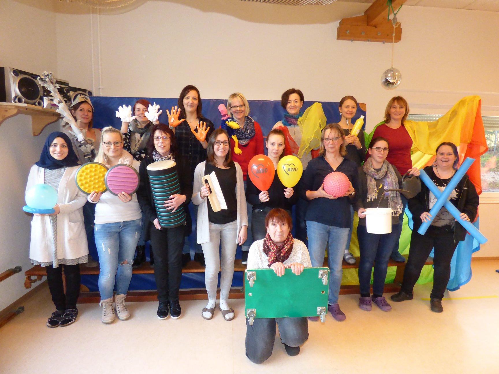 Gruppenbild Team Psychomotorische Kita: AWO Kita Hedwig Wachenheim in Wiehl