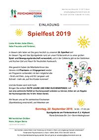 Einladung zum Spielfest 2019