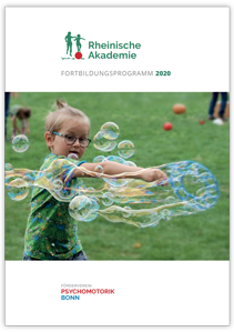 Titelbild Psychomotorik-Fortbildungsprogramm 2020 der Rheinischen Akademie Bonn